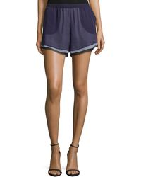 Prabal Gurung - Layered-chiffon Shorts - Lyst