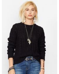 Denim & Supply Ralph Lauren Cable-knit Crewneck Sweater - Lyst