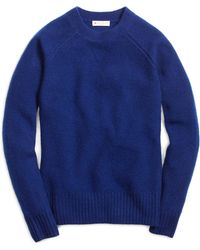 Brooks Brothers Blue Cashmere Sweater - Lyst