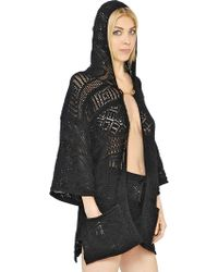 Emilio Pucci Hooded Crocheted Cotton Jacket - Lyst