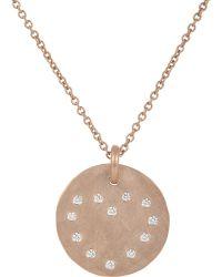 Linda Lee Johnson - Diamond & Rose Gold Cosmic Coin Pendant Necklace - Lyst
