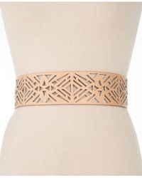 Vince Camuto - Perforated Stretch Back Belt - Lyst