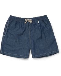 Loro Piana - Mid-length Cotton-chambray Swim Shorts - Lyst