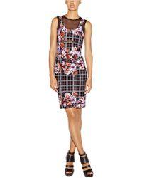 Nicole Miller Floral Plaid Alternative Powernet Dress - Lyst
