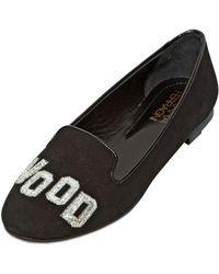 Chiara Ferragni Suede Hollywood Loafers - Lyst