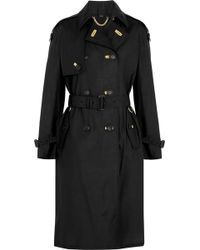 Burberry Prorsum | Silk And Wool-blend Trench Coat | Lyst