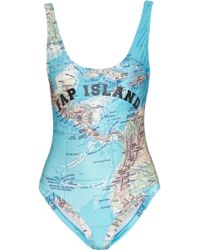 Filles A Papa - Bermudes Printed Swimsuit - Lyst