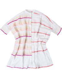 Lemlem Lemlem Abara Gauze Shirt In Pink And Gold multicolor - Lyst