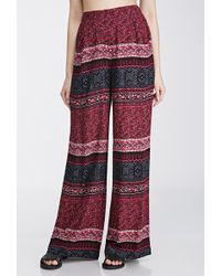 Forever 21 Abstract Print Palazzo Pants - Lyst