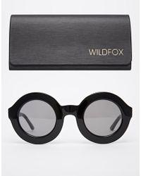 Wildfox Twiggy Round Sunglasses - Lyst
