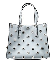 RED Valentino Handbag Bag Shopping Mini Shoulder Leather With Sfere Studs - Lyst