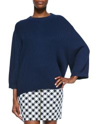 MICHAEL Michael Kors Ribbed Drop-Shoulder Sweater - Lyst