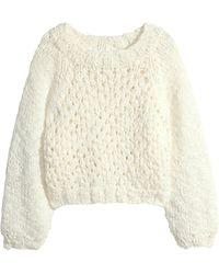 H&M Pattern-Knit Jumper - Lyst