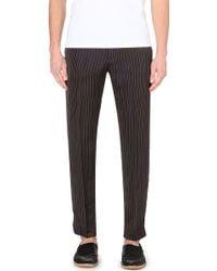 Dries Van Noten Pinstripe-Print Slim Trousers - For Men - Lyst