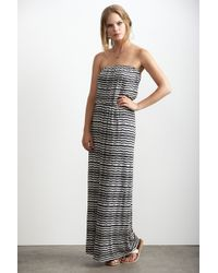 Velvet By Graham & Spencer Glory Strapless Aztec Stripe Maxi Dress - Lyst