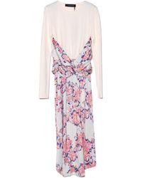 Thakoon Grey Multi Wrap Waist Dress - Lyst