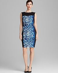 T Tahari Dakota Color Block Sheath - Lyst