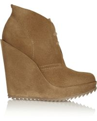 Pedro Garcia Violeta Suede Wedge Ankle Boots - Lyst