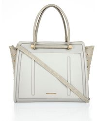River Island Grey Studded Tote Bag - Lyst