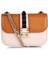 Valentino Lock Small Leather Shoulder Bag - Lyst