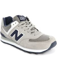 New Balance | gray 574 Grey/navy Suede/mesh Sneakers | Lyst