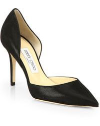 Jimmy Choo Addison Shimmer Leather D'Orsay Pumps - Lyst