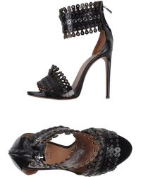 Alaïa Black Sandals - Lyst