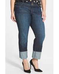Kut From The Kloth Wide Cuff Straight Leg Jeans - Lyst