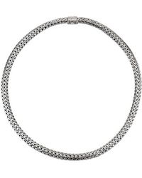 John Hardy Pre-owned 18 Sterling Silver Rhodium Plated Medium Chain Link Necklace - Lyst