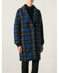 Band of Outsiders - Check Pattern Coat - Lyst