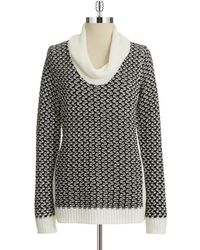 Calvin Klein Colorblock Cowlneck Sweater - Lyst
