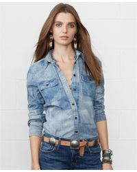 Denim & Supply Ralph Lauren S Faded Chambray Shirt - Lyst