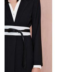 Nasty Gal Ada Classic Leather Wrap Belt black - Lyst