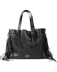 Valentino Handbag Shopping Fringes Leather - Lyst