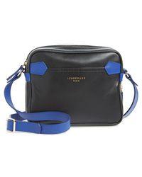 Longchamp '2.0' Two-Tone Crossbody Bag black - Lyst