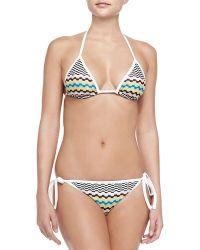 Missoni Mare Wavy-Print String Bikini - Lyst