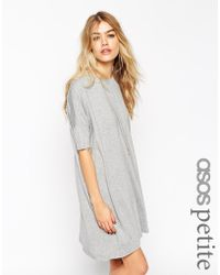 Asos The T-Shirt Dress With Short Sleeves - Lyst