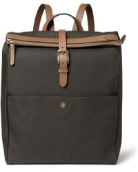 Mismo Leathertrimmed Canvas Backpack - Lyst