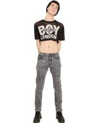 Boy London Mesh Crop Top - Lyst