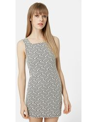 Topshop Print Tunic Dress white - Lyst