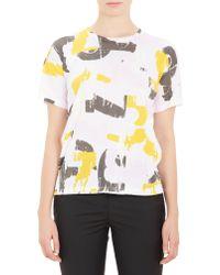 Jil Sander Brushstroke-Print T-Shirt - Lyst