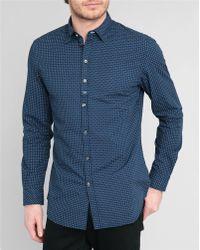 Diesel Navy Giamma Printed Shirt blue - Lyst
