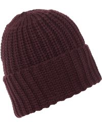 Label Lab - Chunky Knit Turn Cuff Beanie - Lyst