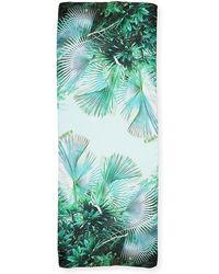 Roberto Cavalli - Tropical-print Silk Scarf - Lyst