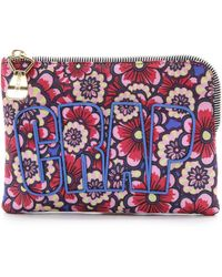 House of Holland Floral Nylon Pouch - Flower Wallpaper - Lyst