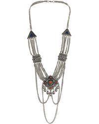 Topshop Multi Chain Drape Necklace - Lyst