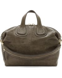 Givenchy Grey Zanzi Leather Nightingale Medium Tote Bag - Lyst