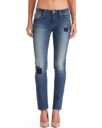 True Religion Victoria Patched Skinny - Lyst