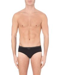 La Perla Branded Cotton Briefs - Lyst