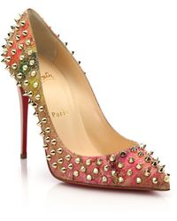 Christian Louboutin | Spiked Cork Pumps | Lyst